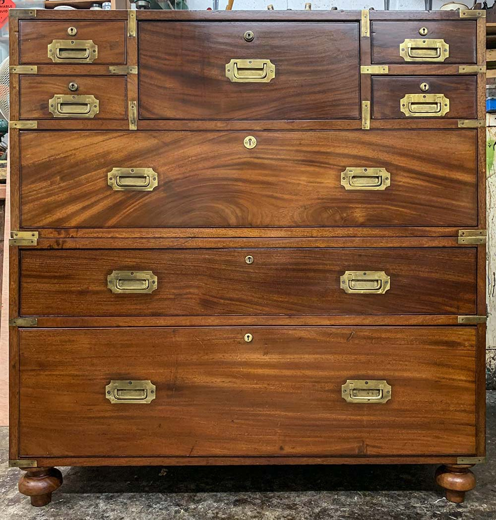Brass Bound Military Chest - After