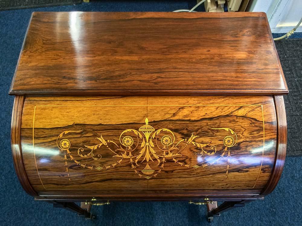 James Schoolbred & Co Rosewood Cylinder Bureau - After
