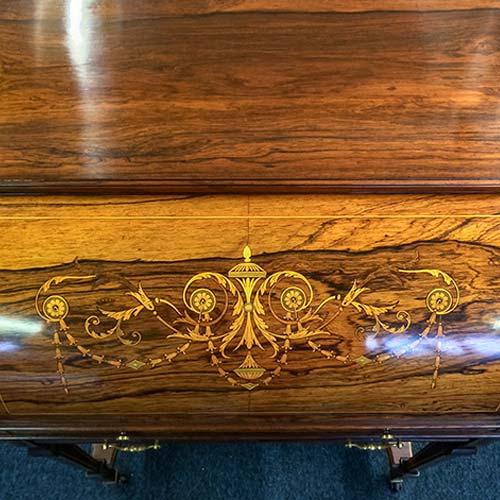 James Schoolbred & Co Rosewood Cylinder Bureau