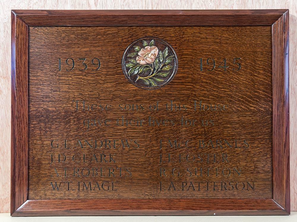 Memorial Board For The Merchant Taylor's School