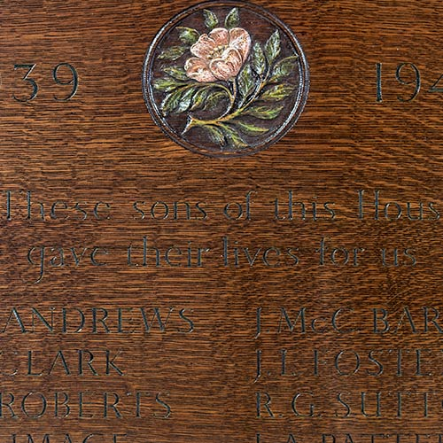 Memorial Board For The Merchant Taylor's School