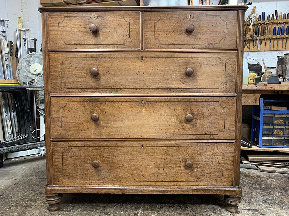 Padouk wood military chest